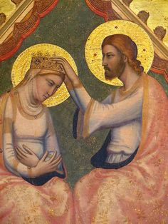 "Giotto, great Italian master of Trecento painted the ""coronation around 1334 in Santa Croce.  Baroncelli Chapel ☩"