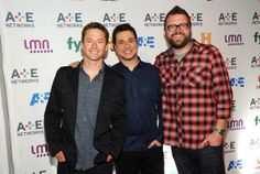 Tanner, Adam and Rutldege at A+E upfronts NYC