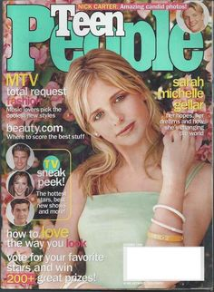 Sarah Michelle Gellar on the cover of Teen People October 1999.