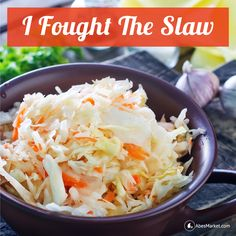 Why fight the slaw? The slaw won. Try this refreshing apple hemp cabbage slaw as a side dish for your favorite meatless entree, or, top it with tofu or tempeh for a healthy main dish. #MeatlessMonday