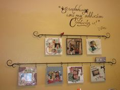 Pretty & easy to swap/re-hang pics, holiday cards, kids' artwork, special papers, etc.