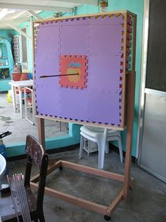 DIY Archery Target made from Puzzle Mats - move the sections that get shot up, to the sides or bottom, or replace them.