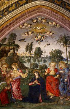 Vatikanische Museen, Appartamento Borgia, Aussendung des hl. Geistes von Pinturicchio (Descent of the Holy Spirit by Pinturicchio)  #TuscanyAgriturismoGiratola