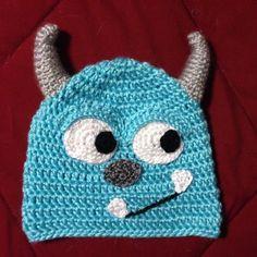 Monsters inc crochet hat