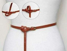 Ways to tie a long strap
