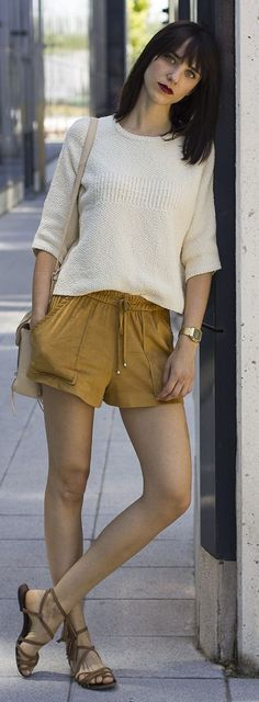 Camel Shorts Cool Style