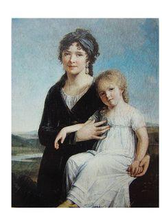 Portrait de l'auteur et de sa fille – Constance Charpentier – Salon de 1799 – n° 709