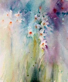 Narcissi from my Spring Exhibition at the Wey Gallery     Wey Gallery   Godalming   Surrey   Private Preview March 22nd   Watercolour ...