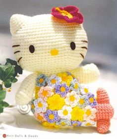 FREE Hello Kitty Amigurumi Crochet (Chart) Pattern / Tutorial
