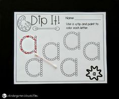 These print and play alphabet activities and centers are perfect for Pre-K and Kindergarten classrooms to explore letters! You join a special club whe. Abc Centers, Preschool Writing, Kindergarten Centers, Preschool Learning, Kindergarten Classroom, Kindergarten Letter Activities, Letter Recognition Kindergarten, Classroom Decor, Alphabet Crafts