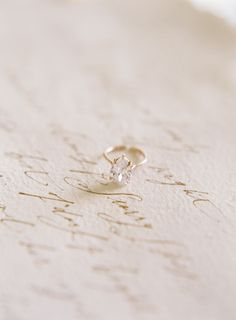Fine Art Destination Wedding Planner East Made Event Company stylist for film photography workshop by Michael and Carina  Gold pear shaped engagement ring by Susie Saltzman on gold calligraphy by Signora e Mare