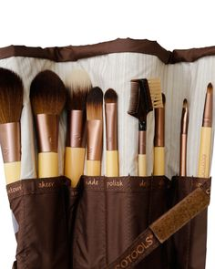 Exclusive Brush Bundle: This Exclusive Brush Bundle features a handpicked collection of EcoTools brushes that every girl needs to complete, or start, her collection! It is only available for a limited time, so hurry and pick one up for you and your loved ones!Included: 1. Collector's Brush Roll 2. Multi Tasking Face Brush 3. Large Powder Brush4. Tapered Blush Brush 5. Foundation Brush6. Airbrush Concealer Brush 7. Full Eye Shadow Brush 8. Lash