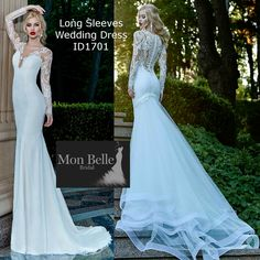 ID1701 #longsleeves #lowback #unique #laceweddingdress Sample Ivory Size 36 (US 04) RRP: AUD2200.00-with fancy #detachabletrain.  AUD1999.00 without train.  Other sizes custom 20 weeks delivery. Made in Europe.