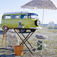 I want a 1967-1973 VW Bus with a camper top.... Orange if possible...