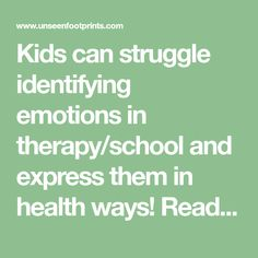 Kids can struggle identifying emotions in therapy/school and express them in health ways! Read about a simple exercise that helps kids recognize how their emotions influence actions