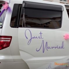"Just Married - The perfect way to seal your ""I Do's""! www.decaleco.com #wedding_gift_ideas #car_sticker #just_married_car_decorations #wedding_car_decals #just_married_decorations"