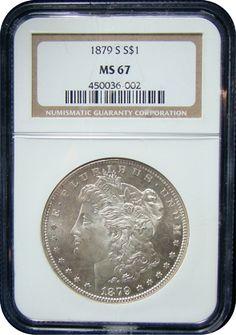 Morgan Silver Dollars NGC/PCGS MS-67