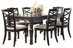 "Series Name:	Harlstern Item Name:	RECT Dining Room EXT Table Model #:	D692-35 Dimensions:	42""W x 70/88""D x 30""H Weight:	176 lbs"