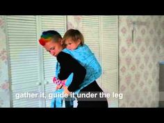 Giselle's Back Carry with chest & waistbelt (size 5) - YouTube