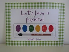Playdate Invitation  Paints   for printing or by Freshcitrus, $3.00