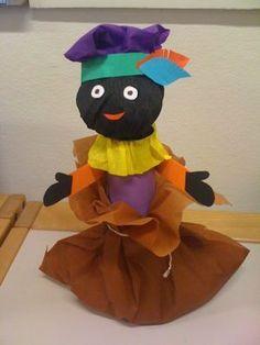 Sinterklaas ruimtelijk knutselen » Juf Sanne Saint Nicholas, Art Lessons, Minnie Mouse, Craft Projects, Crafts For Kids, December, Children, Holiday, Seasons