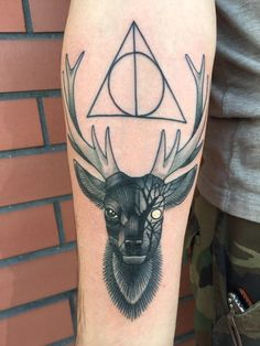 Harry Potter tattoo by Jake Remenaric at Black Metal- Strongsville, OH