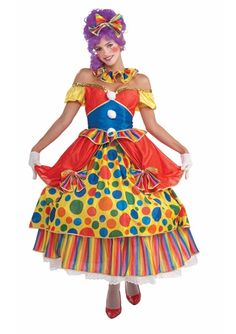 Belle Of The Big Top Women Clown Costume - The Costume Land