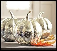 Silver spray paint or sliver leaf pumpkins.    #pumpkins, #fall, #silver
