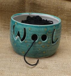 Yarn bowl knitting or crochet wool hand thrown pottery ceramic. £21.99, via Etsy.
