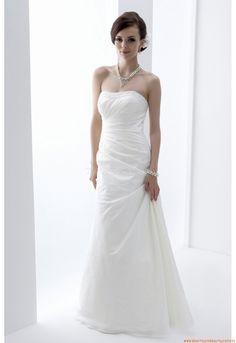 Kolumne Schlichte Günstige Schlichte Brautkleider aus Organza