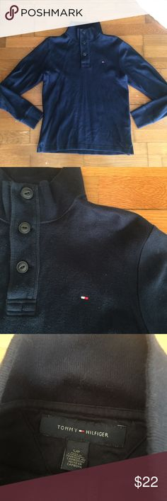 03307ee14c6e Tommy Hilfiger Pullover Tommy Hilfiger Button Pullover -dope button mock  neck -gently worn