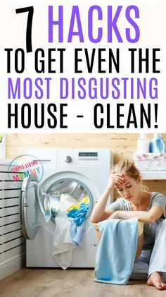 """""""My House is a Disgusting Mess"""" - Lazy House Cleaning Tips That Work! Is your house a disgusting mess? Are you overwhelmed with clutter but have no idea where to start cleaning your house? These step by step tips will help you clean your house in just one Household Cleaning Tips, Deep Cleaning Tips, Toilet Cleaning, Cleaning Checklist, House Cleaning Tips, Diy Cleaning Products, Cleaning Solutions, Spring Cleaning, Cleaning Hacks"""