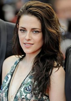 Kristen Stewart Messy Long Wavy Hairstyle