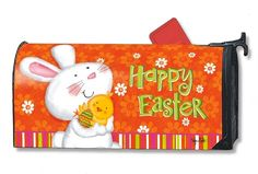 Magnet Works Mailwraps Mailbox Cover - Bunny Love Design Magnetic Mailbox Cov