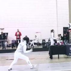 Blair fencing at Junior Olympics