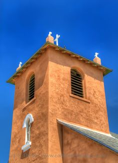 The bell tower of the church in Springer, NM.  Photo by J.P. Dwyer.