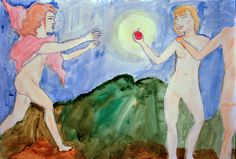 Acuarela sobre papel por Anais Kohn.  Cita pictórica / Clase de Arte
