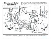 Shepherds Color By Number Page Christmas Color By Number, A Christmas Story, Christmas Crafts, Bible Coloring Pages, Coloring Pages For Kids, Jesus Bible, Bible Verses, Bible Activities, Activities For Kids