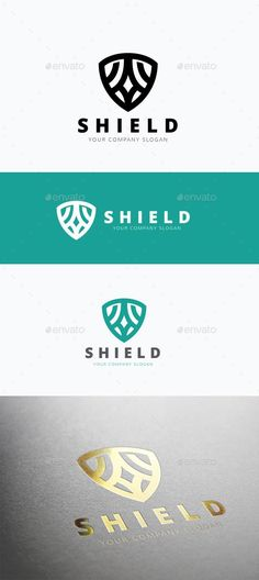 Shield Logo: Abstract Logo Design Template created by LayerSky. Logos, Typography Logo, Graphic Design Typography, Badge Design, Logo Design Template, Logo Templates, Tech Branding, Branding Design, F5 Logo