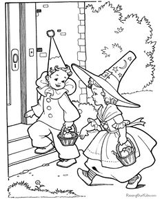 Free Halloween Coloring Pages for Kids - 004