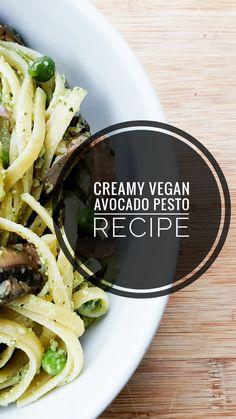 Vegan Snacks, Vegan Recipes, Avocado Pesto, Pesto Recipe, Pesto Pasta, Veggies, Posts, Meals, Dinner