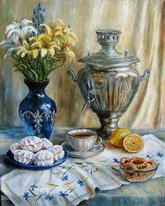 Воробьева Ольга. Приглашение к чаю (481x600, 67Kb)