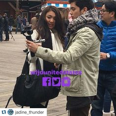 """""""#Repost @jadine_thunder with @repostapp. ・・・ Hubby and Wifey Moment repost from @wljdunitedstates -  OJD Alert!!! It's surreal to witness it live!…"""""""