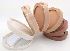 Music Flower Make Up Pressed Powder 5 Color Concealing Contouring Powder Palette Face Perfect Foundation Base Makeup 1