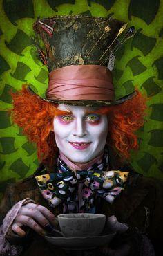 Johnny Deep as Mad Hatter in Tim Burton's Alice in Wonderland