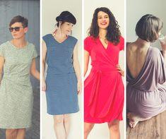10 sommerliche Jerseykleid Schnittmuster