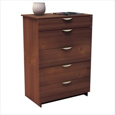 Nexera Nocce 5 Drawer Chest in Truffle Finish - Find ti at Cymax!