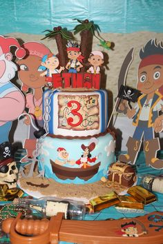 Jake and The Neverland Pirates cake for Cameron's 4th Birthday