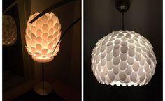 design your own plastic spoon lamp, home decor, lighting