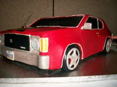 3D Chevrolet Chevelle Car Cake #ChevroletChevelle #ChevroletChevelleCake #Aspoonfullasugar #Groomscakes